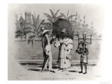 Sunday Morning in Town, from Bridgen's West Indian Sketches, 1851 Giclee Print by Richard Bridgens
