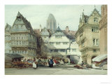 Market Place, Frankfurt Giclee Print by William Callow