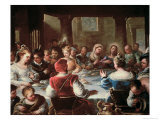 The Marriage at Cana Giclee Print by Luca Giordano
