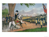 George Washington Lmina gicle por Currier & Ives