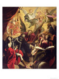St. Nicholas of Tolentino with a Concert of Angels, 1650 Giclee Print by Ambroise Fredeau