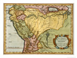 Map of the Amazon Basin, 1680 Giclee Print by Nicolas Sanson D'abbeville