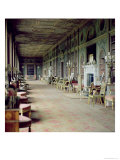 View of the Long Gallery Giclee Print by Robert Adam