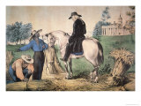 George Washington Giclee Print by Currier &amp; Ives 