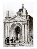 Entrance to Montague House Giclee Print by Robert Thomas Landells