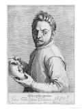 The Actor Jean Gabriel Swel Giclee Print by Agostino Carracci