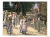 The Road to the School at Edam Giclee Print by Max Liebermann