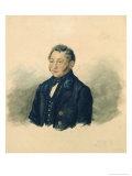 Portrait of Faddey Venediktovich Bulgarin, c.1840 Giclee Print by Ivan Nikolayevich Terebenev