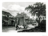 Drawbridge at Malacca, Engraved by George Cooke Giclee Print by Edward Hawke Locker