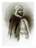 Portrait of Abd-El-Kader Giclee Print by Auguste Bry