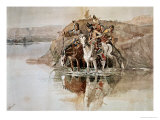 Native American War Party Giclee Print by Charles Marion Russell