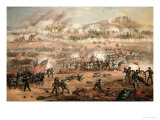 The Union Attack on Marye's Heights During the Battle of Fredericksburg, 13th December 1862 Giclee Print by Frederick Carada