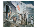 Welcome All Cartoon, 1880 Giclee Print by Joseph Keppler