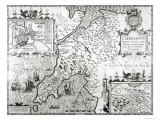 Map of Caernarvon, 1616 Giclee Print by John Speed