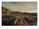 Parade at the Time of Emperor Paul I Giclee Print by Gustav Schwarz