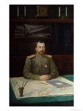 Portrait of Emperor Nicholas II, 1914 Giclee Print by Nikolay Shesterikov