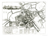 Map of Oxford, 1643 Giclee Print by Wenceslaus Hollar