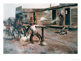 Death of a Gambler Giclee Print by Charles Marion Russell