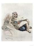 Seated Arab Giclee Print by Eugene Delacroix
