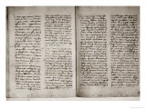 Letter Written from Cape Verde with Details of the Voyage, 4th June 1501 Giclée-Druck von Amerigo Vespucci