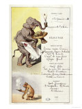 First Class Menu from the Liner L'Armand Behic, 23rd January 1901 Giclee Print by A. Vimar