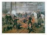 Captain Hickenlooper's Battery in the Hornet's Nest at the Battle of Shiloh, April 1862 Giclee Print by T. C. Lindsay