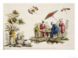 Japanese Apparel and Parasol Giclee Print by Jean Baptiste Pillement