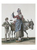 The Cherry Seller Giclee Print by Antoine Charles Horace Vernet