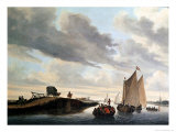 The Water Coach Giclee Print by Salomon van Ruysdael