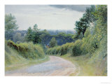 Warwickshire Lane Giclee Print by Thomas Clack