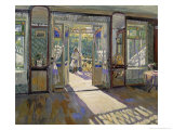 In a House, 1913 Giclee Print by Sergei Arsenevich Vinogradov