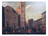 The Plague in Florence in 1630 Giclee Print by Baccio Del Bianco