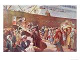 Emigrants Bound For Canada Aboard Rms Empress, Liverpool, 1913 Giclee Print by Charles Mills Sheldon