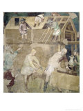 Noah Building the Ark, 1356-67 Giclee Print by Also Manfredi De Battilori Bartolo Di Fredi