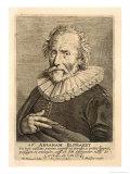 Portrait of Abraham Bloemaert, Engraved by Johannes Meyssens Giclee Print by Hendrick Bloemaert