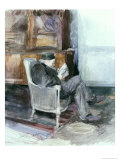 Old Man Sitting in an Armchair Giclee Print by Jules Bastien-Lepage