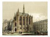 La Sainte Chapelle, Paris Giclee Print by Isidore Laurent Deroy