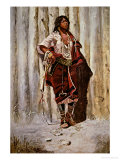 Indian Maid at the Stockade Giclee Print by Charles Marion Russell