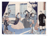 The Salon of a House of Foreign Merchants at Yokohama, 1861 Giclee Print by Utagawa Sadahide