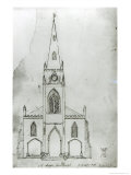 Design For a Church, 1821 Giclee Print by Augustus Charles Pugin