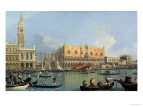 Ducal Palace, Venice, c.1755 Giclee Print by Canaletto