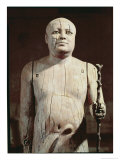Statue of Ka-Aper, Known as Sheikh El-Beled, from His Mastaba Tomb in North Saqqara, Old Kingdom Giclee Print by 5th Dynasty Egyptian