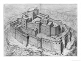 The Krak Des Chevaliers, Reconstruction Giclee Print by Claude Sauvageot