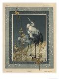 Storks, Plate 40, Fantaisies Decoratives, Librairie de L'Art, Paris, 1887 Giclee Print by Jules Auguste Habert-dys