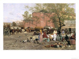 Market Plaza, 1879 Giclee Print by Thomas Allen