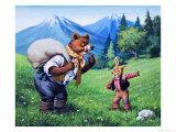 Brer Bear and Brer Rabbit Giclee Print