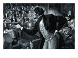 Benjamin Disraeli During His Maiden Speech to Parliament Giclee Print by Paul Rainer