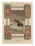 Cows, Plate 39, Fantaisies Decoratives, Librairie de l'Art, Paris, 1887 Giclee Print by Jules Auguste Habert-dys
