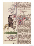 Portrait of Geoffrey Chaucer Giclee Print