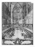 The Coronation of Louis XIV on 7th June 1654 in Reims Cathedral Giclee Print by Antoine Le Pautre